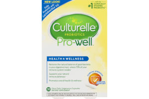 Culturelle Probiotics Pro-Well Health And Wellness Capsules - 30 CT