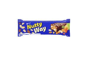 Батончик-мюслі горіховий з фруктами глазурований Nutty Way Vale м/у 40г
