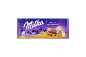 Шоколад молочний з молочною начинкою зі смаком ванілі та печивом Oreo Golden Milka м/у 100г