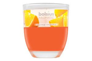 Свеча Bolsius Апельсин арома в стекле 80/70мм