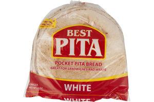Best Pita Pocket Pita Bread White - 6 CT