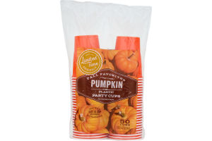 Ahold Party Cups Pumpkin - 50 CT