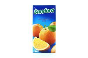 Сок апельсиновый неосветленный Sandora т/п 2л