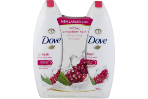 Dove Go Fresh Revive Body Wash Pomegranate & Lemon Verbena Scent - 2 CT