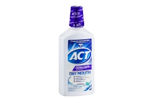 ACT Total Care Anticavity Fluoride Mouthwash Dry Mout Soothing Mint