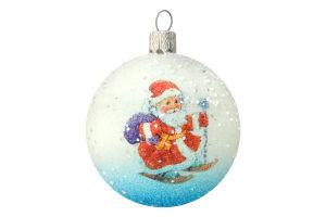 Шар ялинковий снігопад іній Новорічний 60мм в асортименті пластик