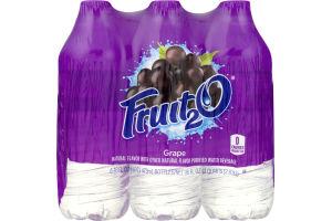 Fruit2O Natural Flavor Water Beverage Grape - 6 CT