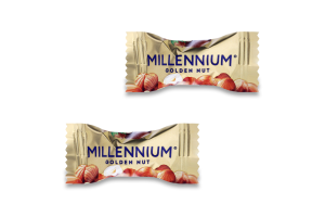 Конфеты шоколадные с начинкой и цельми орехами Golden Nut Millennium кг