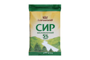 Сир кисломолочний 5% Галичанський м/у 200г