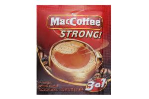 Напій кавовий розчинний з цукром і підсолоджувачем 3в1 Strong MacCoffee м/у 16г