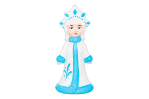 Новорічна прикраса Снігуронька 24*11см пластик