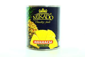 Ананас кусочками Mikado 820г
