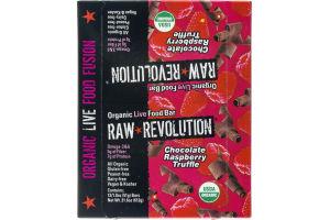 Raw Revolution Organic Live Food Bar Chocolate Raspberry Truffle - 12 CT