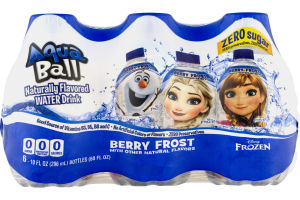 AquaBall Flavored Water Drink Zero Sugar Berry Frost - 6 PK