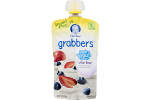 Gerber Grabbers Fruit & Yogurt Squeezable Pouch Very Berry