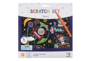 Набір гравюр для дітей від 3років №300217 Космос Dodo 1шт