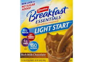 Carnation Breakfast Essentials Light Start Complete Nutional Drink Rich Milk Chocolate - 8 PK