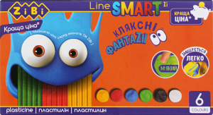 Пластилін дитячий 6 кольорів №ZB.6221 Smart Line ZiBi 120г