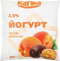 Йогурт 2.5% Персик-маракуйя Кагма м/у 500г