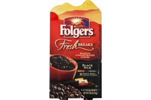 Folgers Fresh Breaks Black Silk Coffee Instant Packets - 8 CT