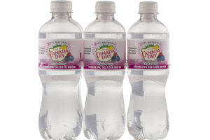 Canada Dry Sparkling Seltzer Water Triple Berry - 6 PK