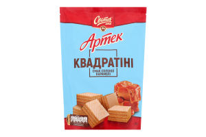 Вафли Світоч Артек Квадратини вкус солен карамели