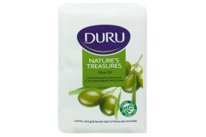 DURU Nature's Treasures Мыло экопак 4*75 g Оливка