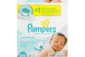 Pampers Sensitive Wipes - 392 CT