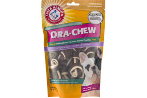 Arm & Hammer Ora-Chew Chicken Flavor Dental Knotted Bone Tartar Control for Small Dogs - 9 CT