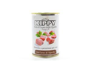 Корм Kippy для собак із шматочками м`яса ягня ж/б 400г