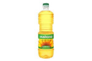 Олія соняшникова нерафінована пресова виморожена першого гатунку Майола п/пл 0.85л
