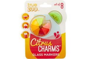 True Zoo Citrus Charms Glass Markers - 8 CT