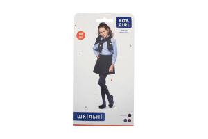 Колготы детские Boy&Girl Geometry 90den 116-122 dark blue