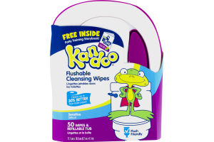 Kandoo Flushable Cleansing Wipes Sensitive - 50 CT