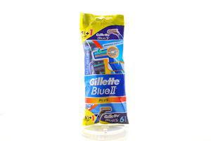 Станок для бритья мужской одноразовый Blue 2 Plus Gillette 6шт