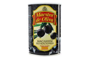 Маслини без кісточки Maestro de Oliva з/б 420г
