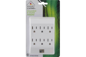 Smart Living Grounded 6-Outlet Adapter