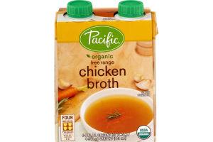 Pacific Organic Free Range Chicken Broth - 4 CT