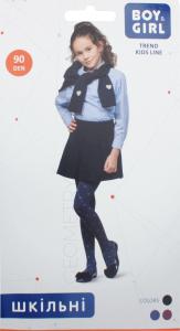 Колготы детские Boy&Girl Geometry 90den 140-146 dark blue