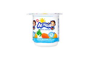 Сирок Агуша Абрикос-морква к/м з 8 місяців 3,9% 100г *12