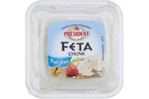 President Cheese Chunk Feta Fat Free