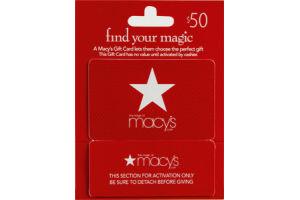Macy's $50 Gift Card