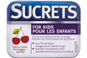 (CN) Sucrets Pour Les Enfants Pastilles Cerise - 18 CT, Sucrets For Kids Lozenges Cherry - 18 CT