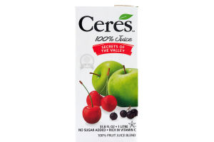 Ceres 100% Juice Secrets of the Valley