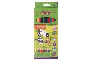 Олівці кольорові №ZB.2431 Zibi 12 кольорів