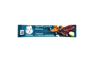Батончик фруктово-злаковый для детей от 12мес Черника и черная смородина Gerber м/у 25г