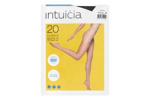 Колготки жіночі Intuicia Classic 20den №2 чорний