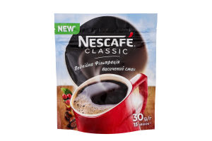 Кава натуральна розчинна гранульована Classic Nescafe д/п 30г