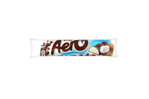 Шоколад пористий молочний і білий смак кокоса Nestle Aero м/у 30г