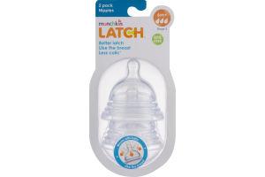Munchkin Latch Nipples Stage 3 6m+ - 2 PK